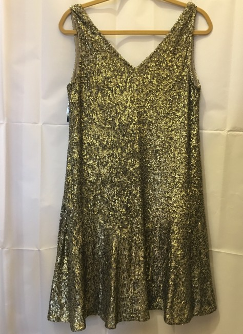 Lauren Ralph Lauren Sequin V-neckline Size 8 M Medium New With Tags Dress Image 7