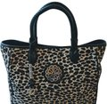 Brighton Seraphine Ferrara Collection Leopard Chamrs Tote in Black/Beige