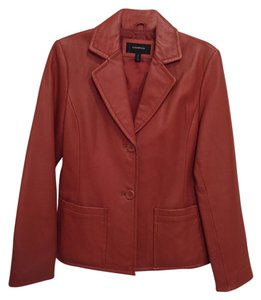 Colebrook & Co. Fall Spring Leather Rust - Orange Leather Jacket