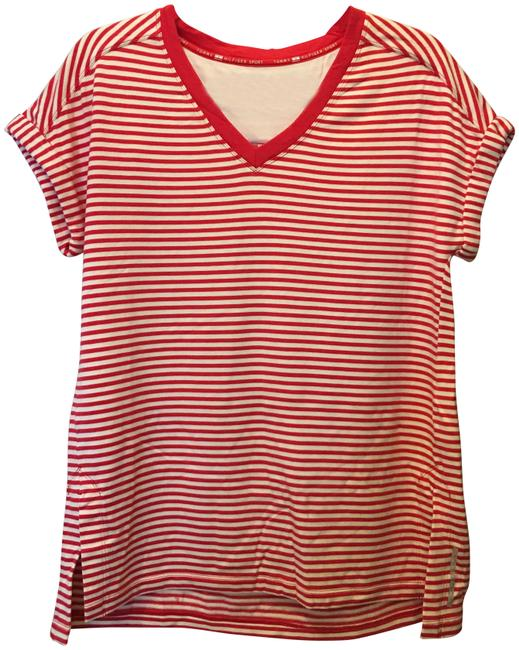 Item - Red and White Tee Shirt Size 10 (M)