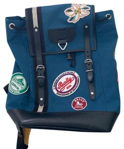 8f8c9fc55 Bally Patch Blue Canvas Backpack - Tradesy