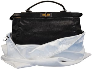 Fendi Zucca New Leather Tote in Black