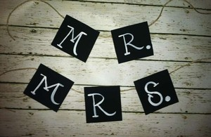 Love Always Handmade Mr & Mrs Signs Reception Decoration