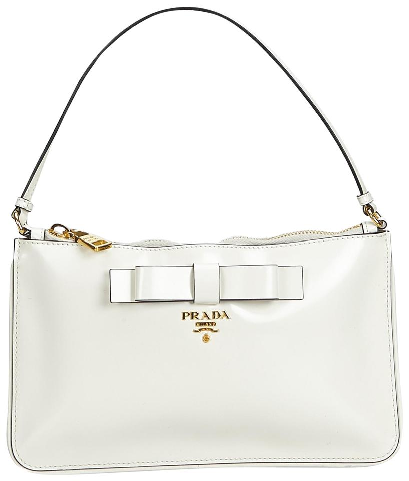 ea087ce66752 Prada Italy White Patent Leather Patent Leather Baguette - Tradesy
