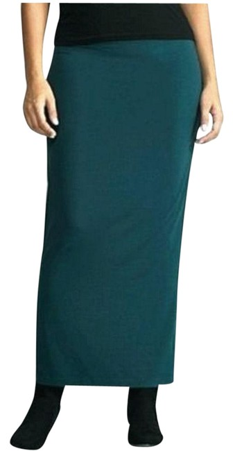 Item - Aegean Green Jersey Viscose Foldover S Skirt Size 6 (S, 28)