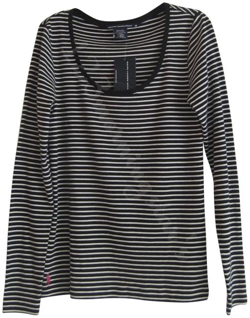 Item - Multi-color Navy Striped Pink Pony Scoop Neck T-shirt Style No. 1221599cssnt Tee Shirt Size 12 (L)