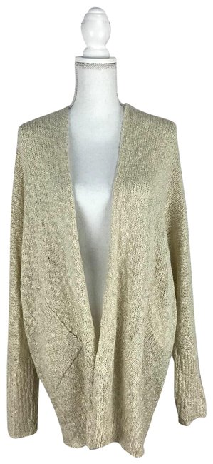 Say What? Beige L Women's Sweater Regular Cardigan Size 12 (L) Say What? Beige L Women's Sweater Regular Cardigan Size 12 (L) Image 1