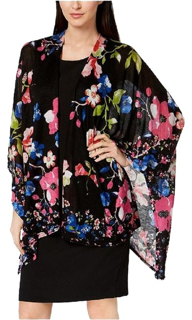 Item - Womens Scarf Wrap One Size New Floral / Black Sweater