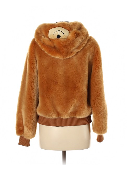 Item - Brown Couture Teddy Bear Bomber Hoodie Ready To Bear Coat Size 4 (S)