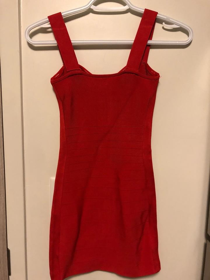 Marciano Red Bandage Dress