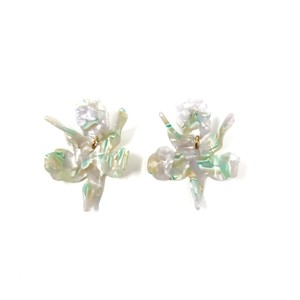 Lele Sadoughi Lele Sadoughi Small Paper Lily Drop Earrings Mint