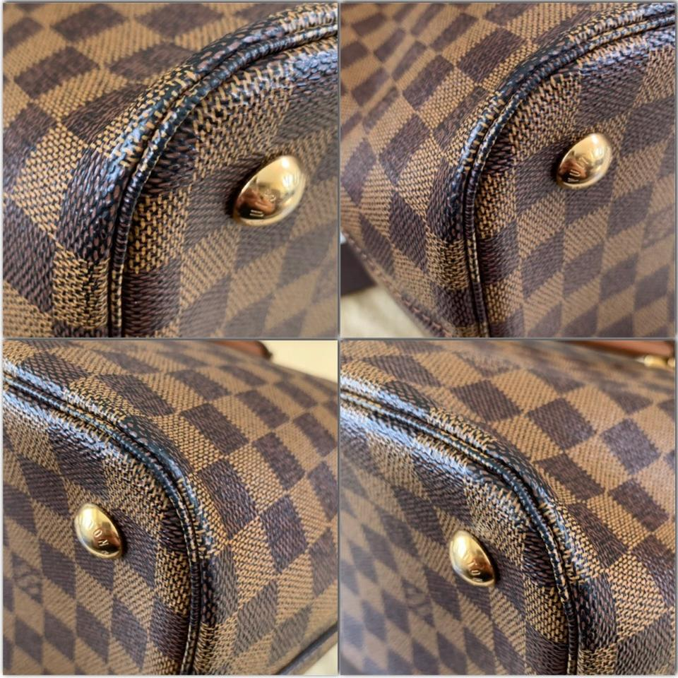 Louis Vuitton Belmont Damier Ebene Nomade Brown Canvas Leather Satchel