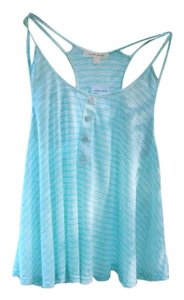painted threads Stripes Striped Light Flowy Shear Summer Spring Top Blue
