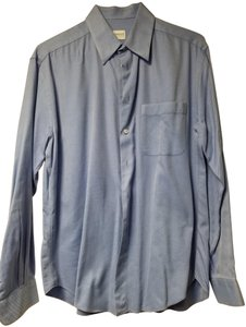 Armani Collezioni Button Down Shirt Carolina Blue
