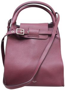 Céline Calfskin Satchel in Burgundy