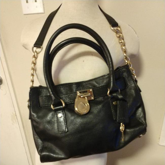 Michael Kors Handbag Black Leather Shoulder Bag Michael Kors Handbag Black Leather Shoulder Bag Image 1