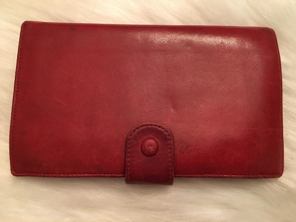adacaff6cc4c Chanel Red Clutch Classic Cc Kiss Lock Calfskin Timeless Snap Wallet
