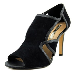 Audrey Brooke Leather Suede Elegant Black Pumps