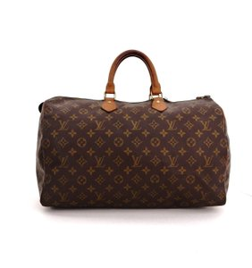 Louis Vuitton Speedy 40 Monogram Keepall Boston Tote in Brown