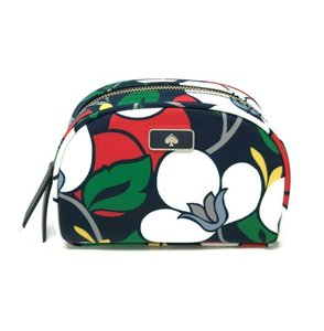 Kate Spade Kate Spade Small Dome Cosmetic Dawn Breezy Floral Nylon Makeup Bag