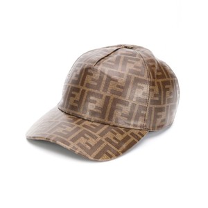 Fendi FF logo printed baseball hat