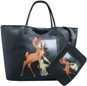Givenchy Calfskin Large Podium Antigona Tote in Black