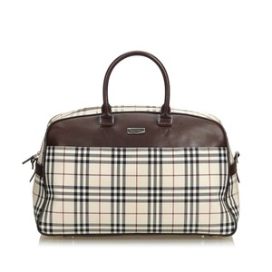 13b861280cdb Burberry 9cbutr003 Vintage Blend Leather Brown Travel Bag