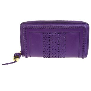 3a752bbfd534 Gucci GUCCI Zipper Long Bifold Wallet Purse Leather Purple Italy