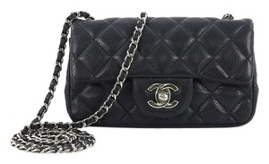 a757345b9bfe Chanel Classic Flap Classic Single Quilted Caviar Extra Mini Navy ...