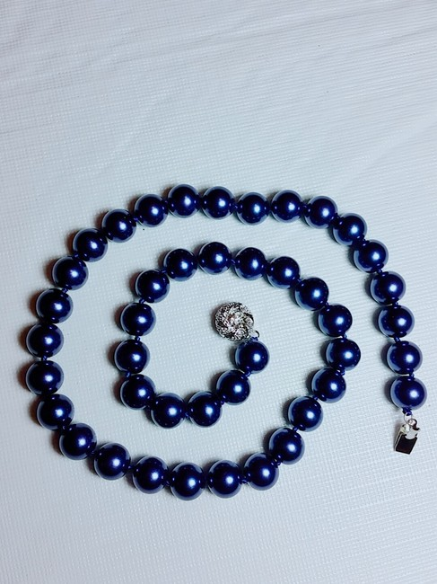 """Item - Blue 10 Mm South Sea Shell 18"""" Necklace"""