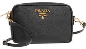 Prada Leather Logo Italian Cross Body Bag