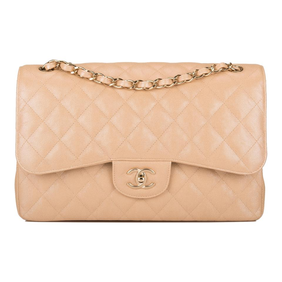 d09412098f59fd Chanel Classic Flap Iridescent Quilted Caviar Jumbo Classic Double ...
