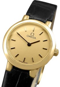 Omega Omega De Ville Ladies Dress Quartz Watch - 18K Gold Plated & Stainless