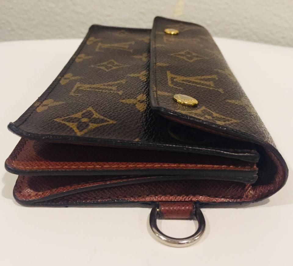 4c7f8a962012 Louis Vuitton Vintage Accordion Long Wallet with Chain Ring Image 8.  123456789