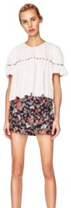 Zara Dress Shorts All over Rose Tapestry Printed