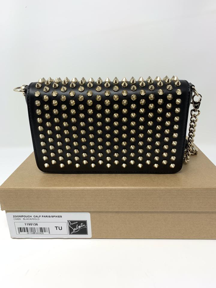 c94a570350c Christian Louboutin Zoom Pouch Spiked Leather Black Cross Body Bag