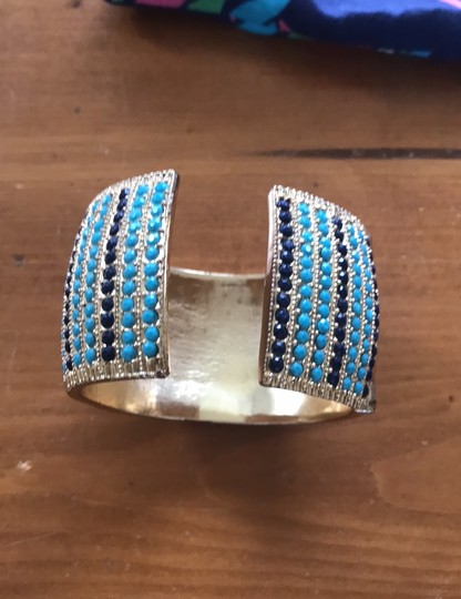 Lilly Pulitzer Lilly Pulitzer cuff gold jeweled bracelet Image 2