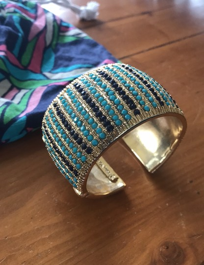 Lilly Pulitzer Lilly Pulitzer cuff gold jeweled bracelet Image 6