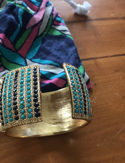 Lilly Pulitzer Lilly Pulitzer cuff gold jeweled bracelet Image 7