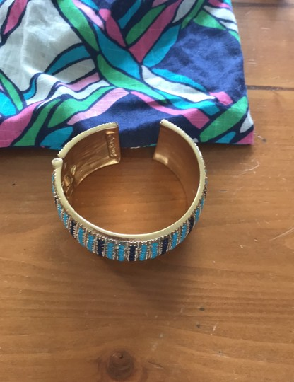 Lilly Pulitzer Lilly Pulitzer cuff gold jeweled bracelet Image 8