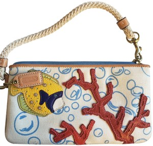 Coach Fish Summer Wristlet in Off-White