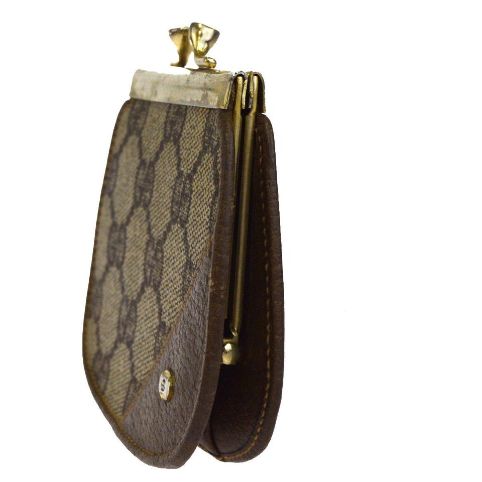 40efd52d137 Gucci GUCCI GG Pattern Coin Case Wallet Purse PVC Leather Brown Italy Image  8. 123456789