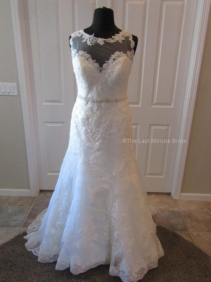 Callista Ivory Lace Dallas Feminine Wedding Dress Size 18 Xl Plus