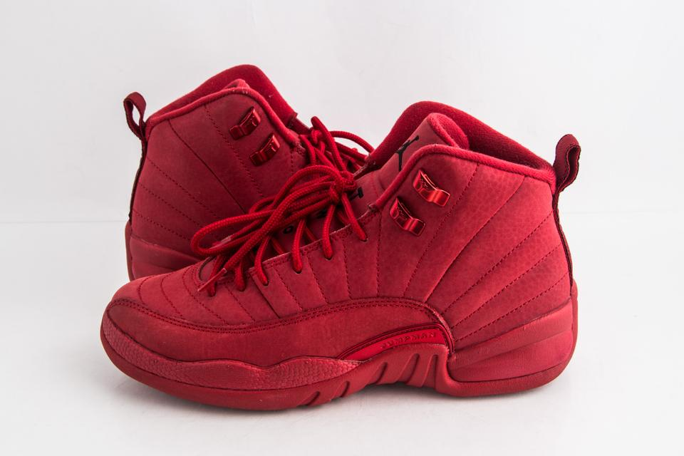 classic fit 87a71 ce2c1 Nike Red Air Jordan 12 Retro (Gs) Sneakers Shoes