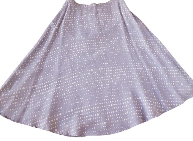 Item - Lavender New London A-line Printed Pleated Flared Midi Skirt Size 8 (M, 29, 30)