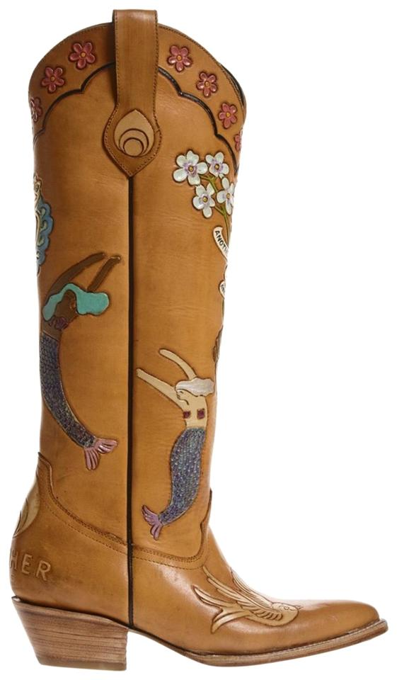 5831809a6 Brother Vellies Brown Mermaid Doodle Boots/Booties Size US 8 Regular ...