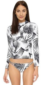 MIKOH lowers rashguard in palm leaf print