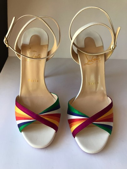 Christian Louboutin White with Multicolored straps Sandals Image 10