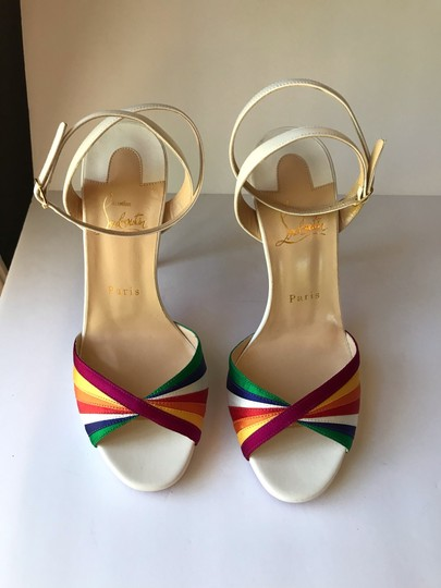 Christian Louboutin White with Multicolored straps Sandals Image 2