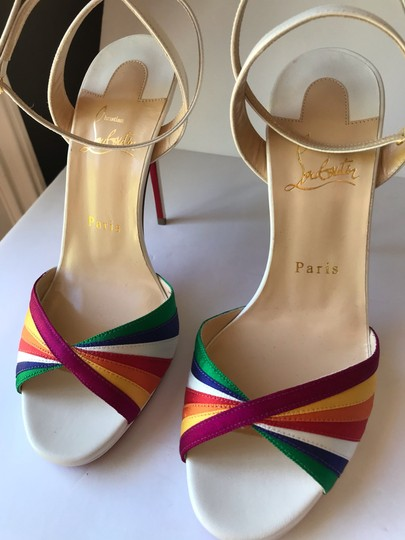 Christian Louboutin White with Multicolored straps Sandals Image 3